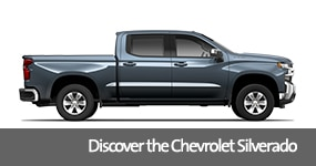 Visit the 2019 Silverado text, underneath an image of the 2019 Chevrolet Silverado.