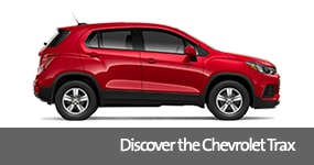 Visit the 2019 Trax text, underneath an image of the 2019 Chevrolet Trax.