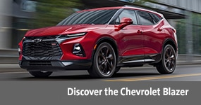 Visit the 2020 Blazer text, underneath an image of the 2020 Chevrolet Blazer.