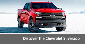 Visit the 2020 Silverado text, underneath an image of the 20202 Chevrolet Silverado.