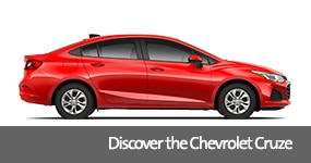 Visit the 2019 Cruze text, underneath an image of the 2019 Chevrolet Cruze.