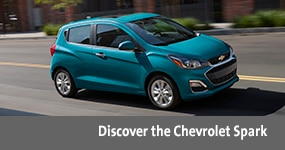 Visit the 2020 Spark text, underneath an image of the 2020 Chevrolet Spark.